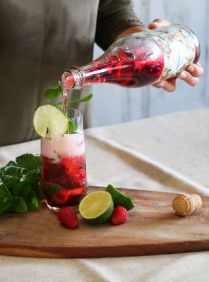 Raspberry Mojito - mocktail