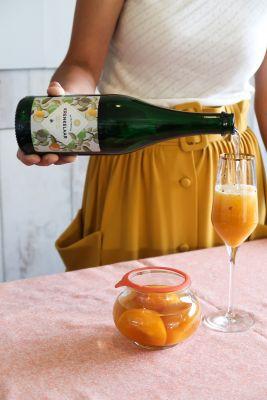 Sparkling Peach Bellini – cocktail /mocktail