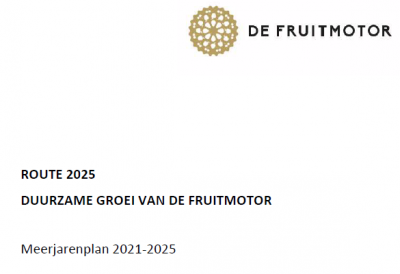 Route 2025: Fruitmotor meerjarenplan 2021-2025